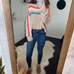 VICI Chenille Striped Sweater